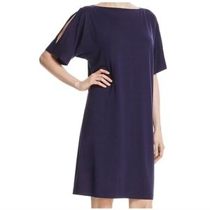 Eileen Fisher T shirt Dress. Cold Shoulder